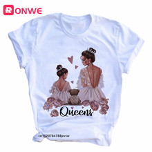 Mom and Men Queen Print Women T-shirt Best Mommy Summer Harajuku O Neck Funny 90S Tops Tee Daughter Casual Clothes,Drop Ship