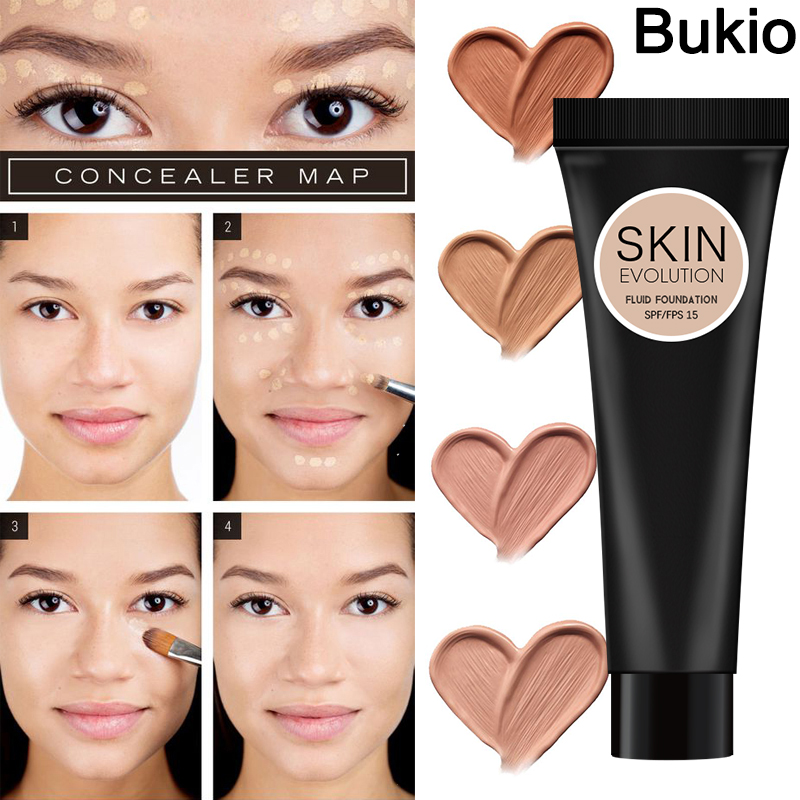 Face Foundation BB CC Cream Waterproof Long-lasting Concealer Liquid Professional Makeup focallure Coverage Matte Base MakeUp image