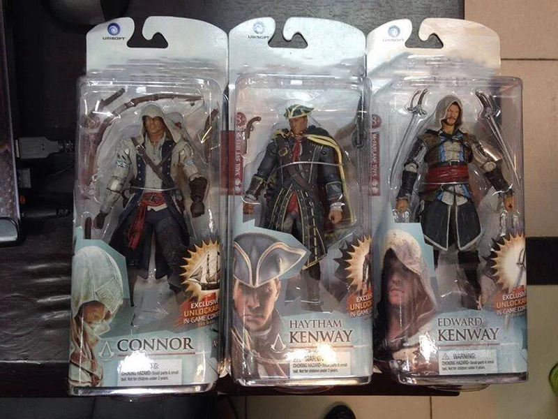15cm Creed Series 4 Connor Haytham Edward Kenway Mohawk Action Figure Model Toy Doll Gift