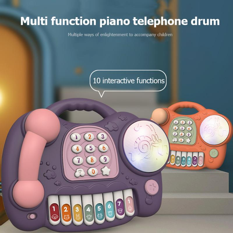 Kids Baby Cute Music Piano Phone Toy Children Infant Lighting Keyboard Brain Development Early Learning Educational Toys
