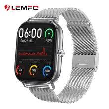 LEMFO-reloj inteligente para hombre, pulsera con Monitor de frecuencia cardíaca, ECG, PPG, Bluetooth, llamadas, 24 horas, para Android IOS, teléfono, GTS, 2020