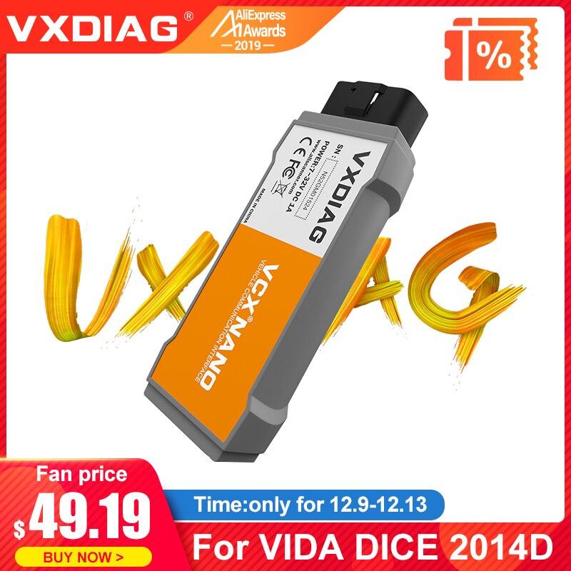 VXDIAG VCX NANO Diagnostic Tool For VOLVO VIDA Dice 2014D OBD2 Code Scanner OBD2 Car Diagnostic Tool 2014D Vida Dice Pro