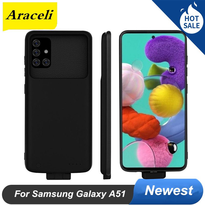 5000 Mah For Samsung Galaxy A51 Battery Case And Power Bank Smart For Samsung Galaxy A51 Battery Charger Case