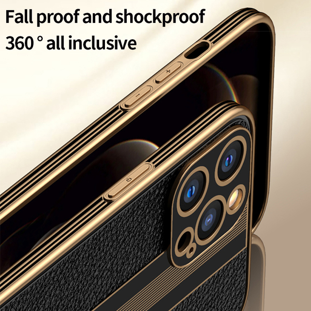 Fashion Luxury Business Shockproof Soft Silicone PU Leather Cell Phone Case For iPhone 12 11 Pro Max Mini Cover Fundas Coque 5
