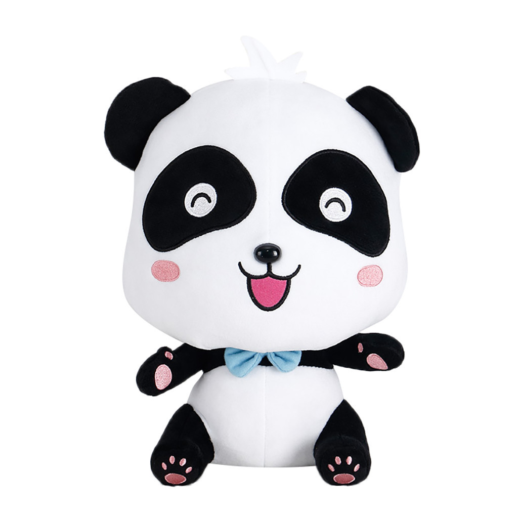 Vivid Funny Panda Plush Toys Soft Cartoon Animal Black And White Panda Stuffed Doll Soft Plush Panda Gift Present Doll Toy #B