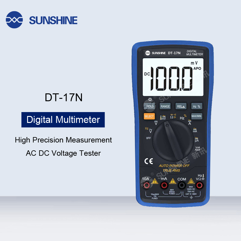High Precision LCD Display Digital Multimeter AC DC Voltage Current Resistance Measure Tester Electronic Measuring Equipment image
