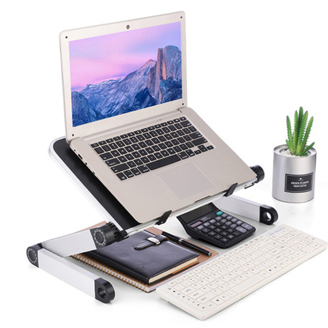 Adjustable Computer Table Aluminum Alloy Laptop Desk 360 Degree Laptop Stand Foldable Computer Table Stand Tray Notebook Stand 1