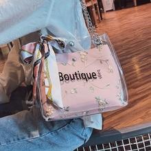 Bags Women shoulder 2019 New Transparent Handbag Chain Jelly Bag Shoulder