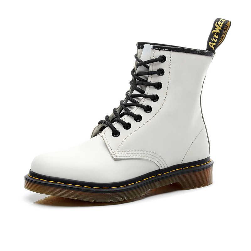 Мужская обувь; Новинка; женские ботильоны из натуральной кожи; Повседневная обувь в байкерском стиле; теплые зимние мужские ботинки; Рабочая безопасная обувь