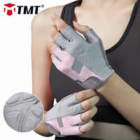 TMT Women Gym Gloves for Body Building Sport Fitness Dumbbell Workout Breathable Gloves for Crossfit Weight Lifting Training