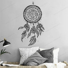 Dream Catcher Wall decor Feather wall vinyl sticker Dreamcatcher Wall Decal Home Decor art mural HJ539 colorful dream catcher flying feather wall stickers symbol home decor bedroom accessories living room decal mural art poster
