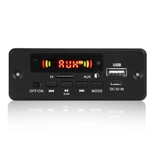 2X3W Amplifier MP3 Decoder Board 12V Bluetooth 5.0 30W Car FM Radio Module Support TF USB AUX