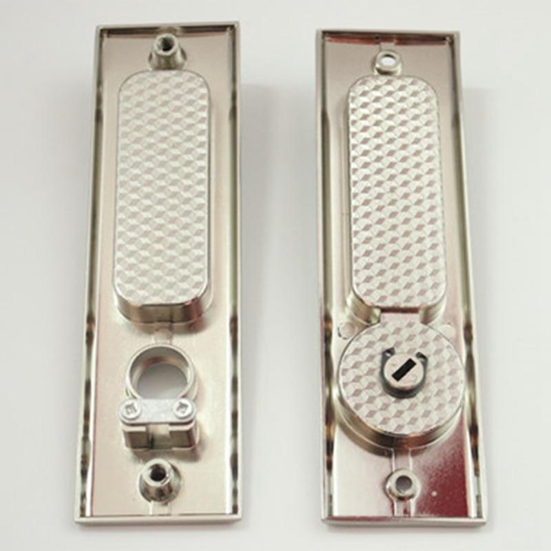 Square Sliding Door Lock Flush Handle Finger Pull Set Kitchen Bathroom Cabinet Locker With Keys Home Hardware