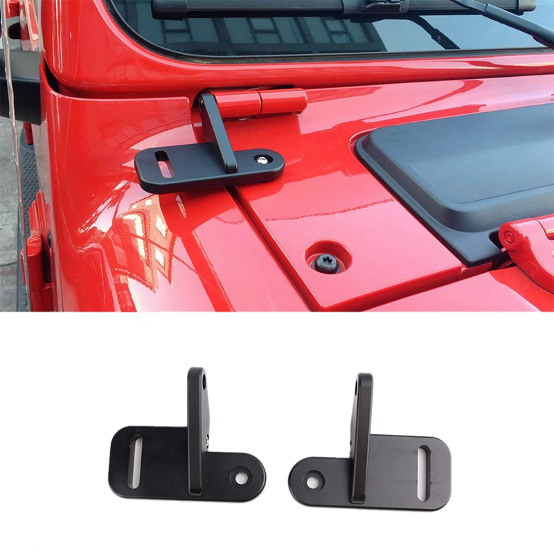 A-Pillar Light Brackets Windshield Hood Mount Bracket Led Work Light Mounts Kit For Jeep Wrangler Jl 2018-2019 Car Accessories