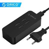 ORICO 4 Ports USB Ladegerät Mini Intelligente Lade Dock Station 5V2. 4A * 4 Max Ausgang 20 W Desktop Ladegerät für Smart Phone Pad Lade