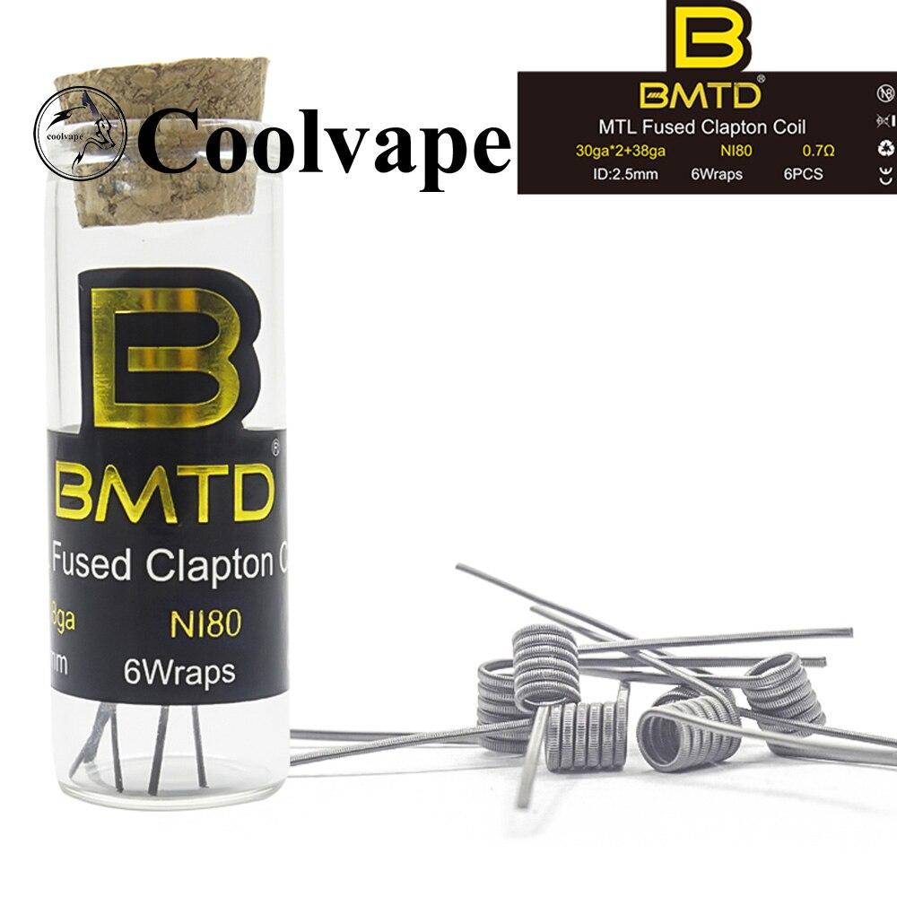 Coolvape Tauren Max Rdta DIY MTL Ni80/A1/SS316L Premade Fused Clapton Mtl Coils RDA/RDTA Fit Dvarw MTL RTA Kayfun Lite