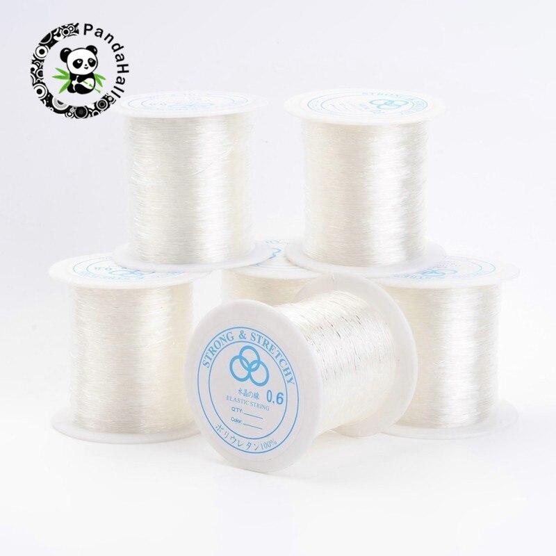 Pandahall 25 rouleaux fil de cristal élastique pour la fabrication de bijoux bricolage matériaux de cordage clair 0.6mm/0.7mm/0.8mm environ 100 m/rouleau-in Bijoux et composants from Bijoux et Accessoires    1