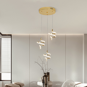 Gold chrome plating led pendant lights modern design for Restaurant Pendant Bedroom kitchen Hanging lamp indoor lighting