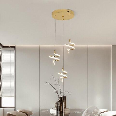 chapeamento de ouro led luzes pingente design moderno para restaurante luzes pingente quarto cozinha pendurado