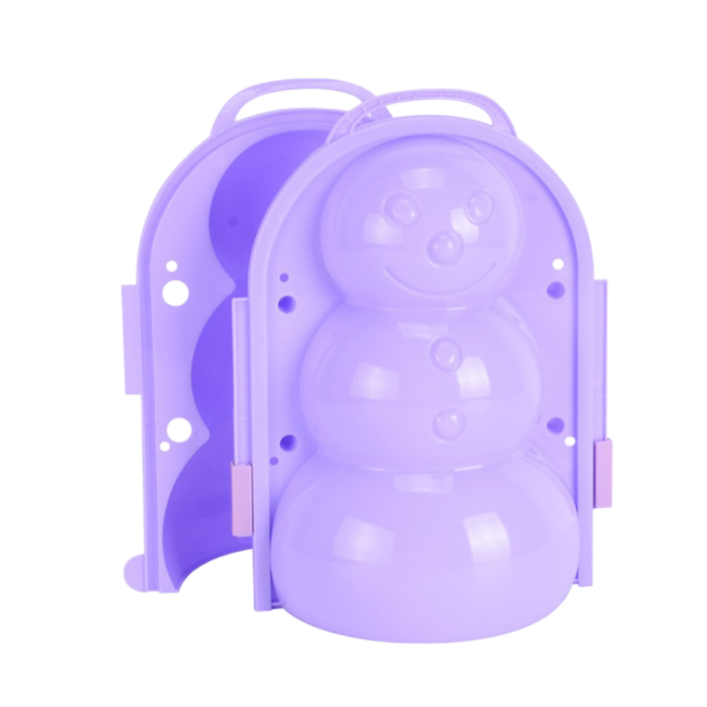 2Pieces Kids Snowball Maker Snowman/Penguin Mold, Snowball Clip Tool, Outdoor Winter Snow Toy, Can Also be Sand Mold