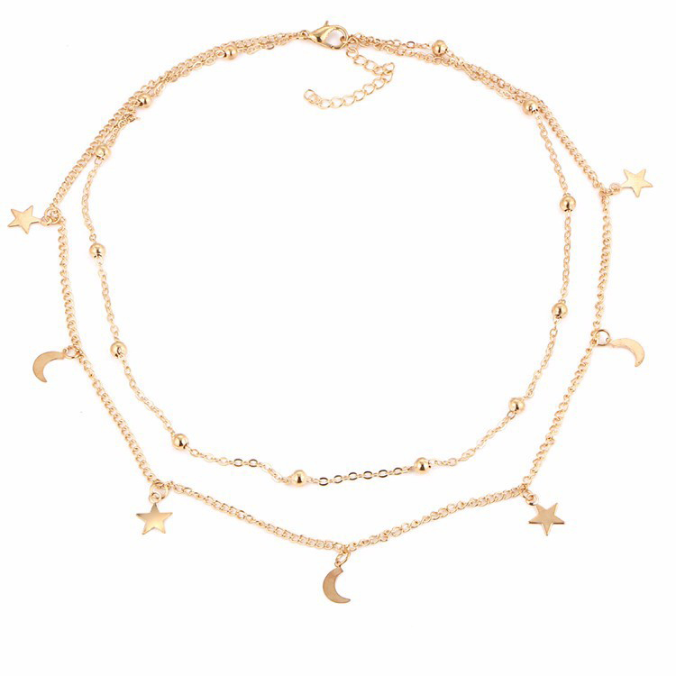 New Boho Simulated Pearl Jewelry Multi Layer Beads Choker Necklaces for Women Pendant Vintage Fashion Bijoux Jewelry