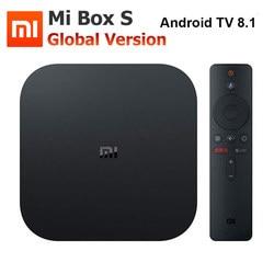 Xiaomi Mi Box S 4K TV Box Cortex-A53 Quad Core 64 bit Mali-450 1000Mbp Android 8.1 2GB+8GB HDMI2.0 2.4G/5.8G WiFi BT4.2 Latest