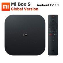 Xiaomi miボックスの 4 4kテレビボックスCortex A53 クアッドコア 64 ビットマリ 450 1000Mbpアンドロイド 8.1 2 ギガバイト + 8 ギガバイトHDMI2.0 2.4 グラム/5.8 グラムwifi BT4.2 最新