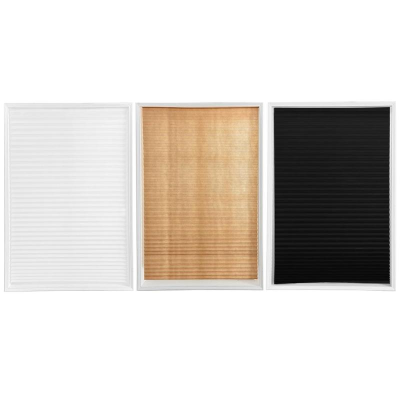 Easy Lift Trim-at-Home Cordless Pleated Light Blocking Fabric Shade Natural For Living Room Home Window Door Roman Blinds