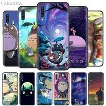 Stüdyo Ghibli ruhlu Totoro samsung kılıfı A90 5G A50 A40 A30 S A80 A70 A10 A20 e A9 A7 A8 artı 2018 siyah silikon kapak