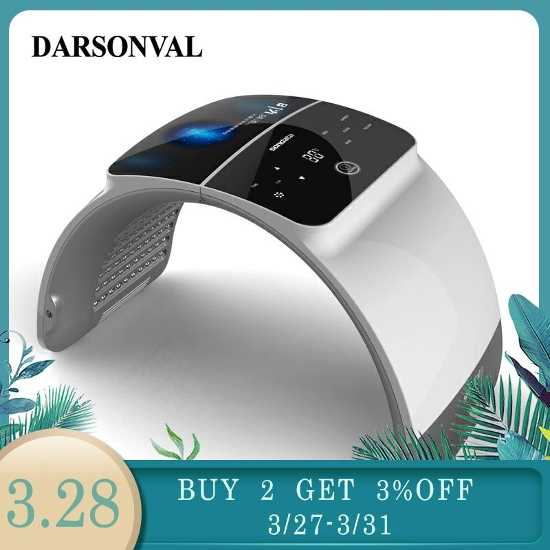 DARSONVAL Professional 7 Colores Mascara LED PDT Facial Mask Red Light Therapy Treatment Skin Lamp Machine Remover Anti-Wrikle