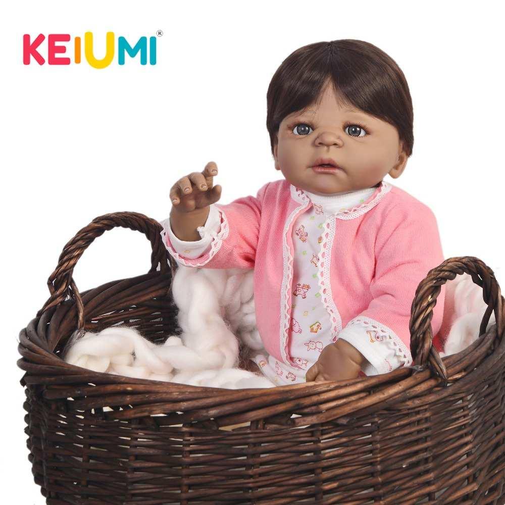Hot Sale 23 Polegada Menina Boneca Reborn Vivo 57 centímetros Full Body Vinil Lifelike Baby Doll Brinquedo Para Crianças Venda presente de natal Melhor Playmate