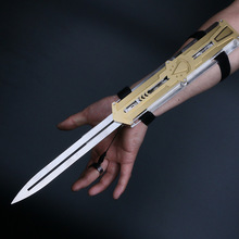 Toys Sword Blade Weapon-Sleeve Hidden Action-Figure Stainless-Steel Can Metal Pop-Up