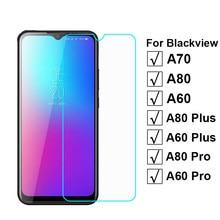 2-1pc vidro temperado para blackview a70 capa de vidro de proteção em pelicula blackview a80 a60 plus a80pro a60 pro protetor de tela