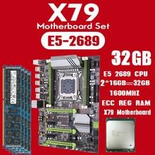 Kllisre X79 anakart set Xeon E5 2689 2x16GB = 32GB 1600MHz DDR3 ECC REG bellek ATX USB3.0 SATA3 PCI E NVME M.2 SSD