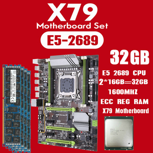 Image 1 - Kllisre X79 motherboard set mit Xeon E5 2689 2x16GB = 32GB 1600MHz DDR3 ECC REG speicher ATX USB 3,0 SATA3 PCI E NVME M.2 SSD