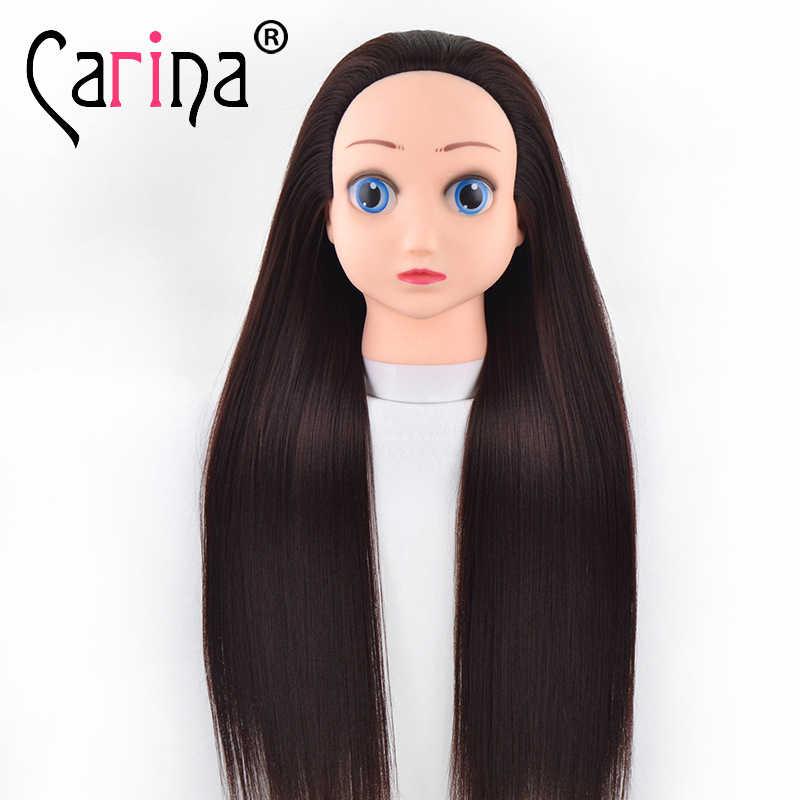 Profesjonalna stylizacja głowica treningowa do fryzur z długimi grube włosy praktyka fryzjerstwo lalki głowy manekiny do włosów na sprzedaż