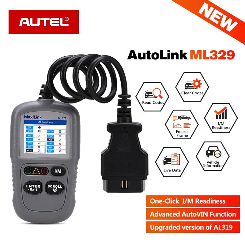 AUTEL MaxiLink ML329 OBD2 Scanner Car Code Reader Fault Code Read OBD 2 Scaner OBD II Auto Diagnostic Tool Autoscanner PK ELM327