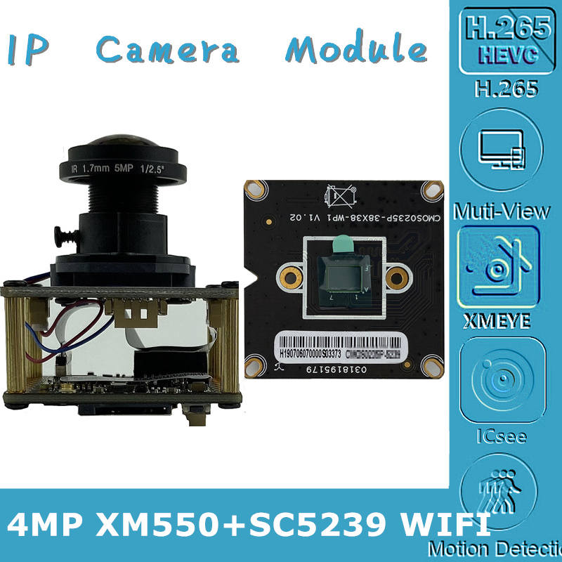 Ip-Camera Module-Board Sd-Card RTSP XMEYE WIFI XM550 M12-Lens AP Wireless 4MP with 8-128G