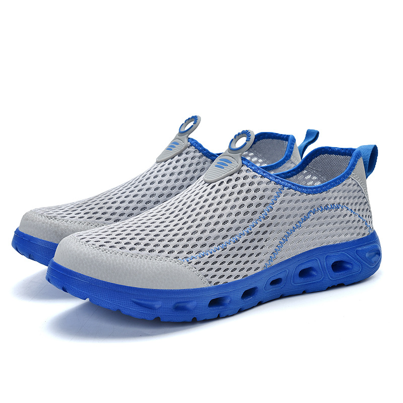 Breathable Men's Running Shoes Men's Jogging Net Summer Mesh Sports Shoes Casual Slip-on Sandals Shoes Free Shipping