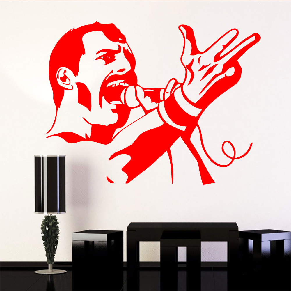 Music Wall Decal Microphone Vinyl Sticker Decal Interior Home Decor Bedroom L186