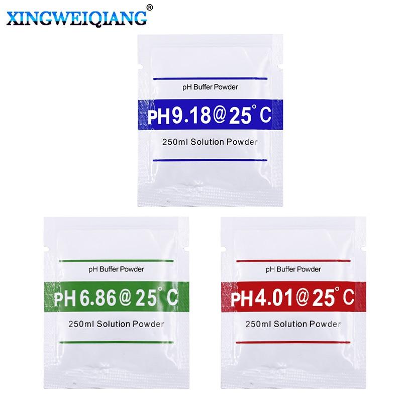 3pcs 6pcs PH Meter Pen Of Tester Accuracy PH Correction Powder PH4.01 PH6.86 PH9.18 Buffer Powder