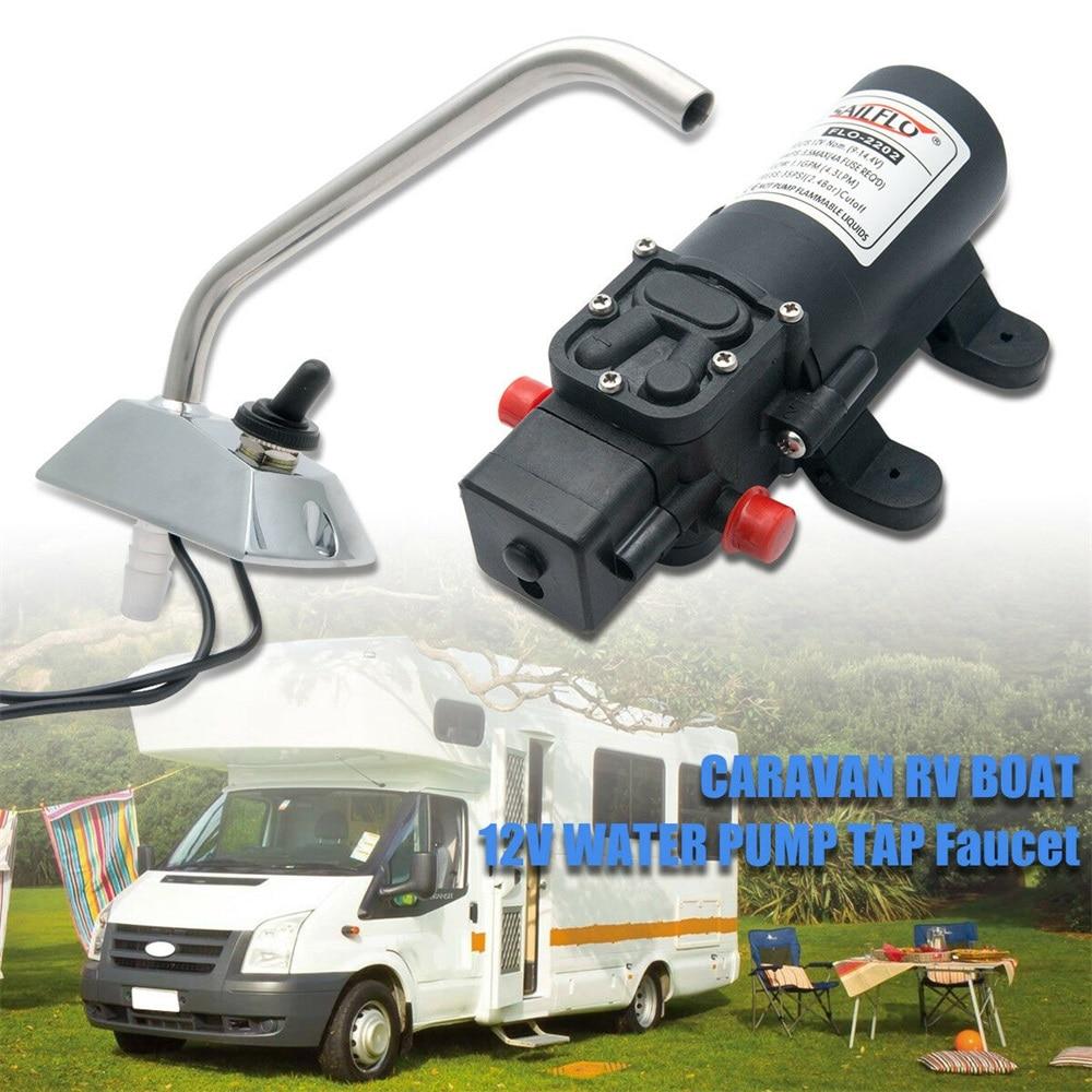 12V SELF-PRIMING GALLEY ELECTRIC WATER PUMP FAUCET/TAP Boat/Caravan RV Professional grade pump set kit