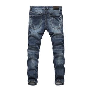 Image 2 - AIRGRACIAS Men Jeans Design Biker Jeans Strech Casual Denim Jean For Men Hight Quality Cotton Male Long Trousers Size 28 40