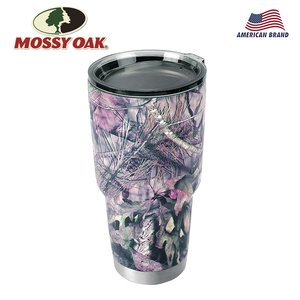 Image 1 - MOSSY OAK  30 Oz Double Wall Vacuum Insulated Coffee Cup Stainless Steel Camo Tumbler Travel Mug for Cold & Hot Drinks