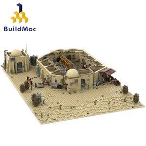 BuildMoc Звездный план космический замок архитектурный набор строительные блоки город МОС здания дом уличный вид Развивающие детские игрушки ...