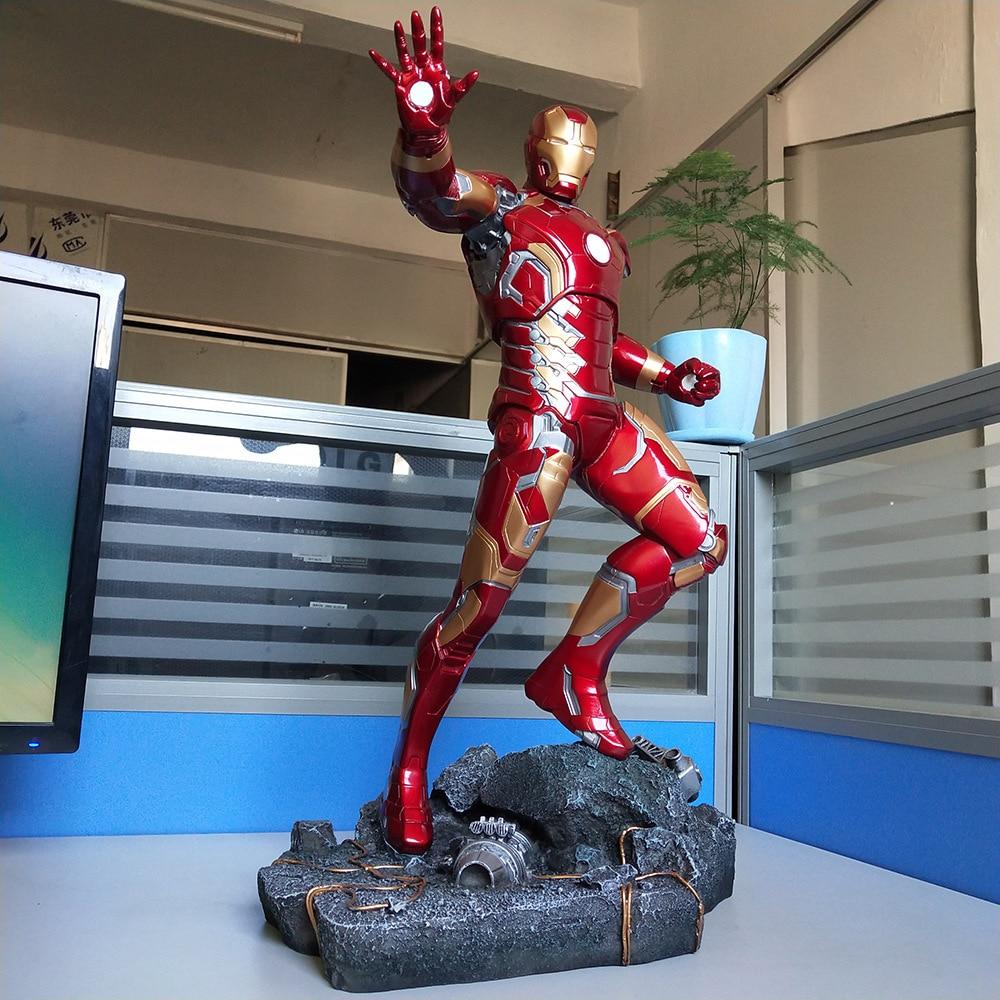 Marvel Avengers Ironman Mark 43 Resin Ironman Statue PVC Action Figures Toys 50cm
