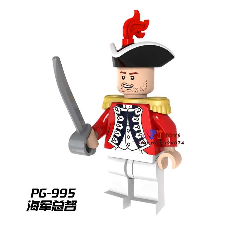 Single Sale Superhero Pirates Imperial Governor Building Blocks Model Bricks Toys For Children Action Figures