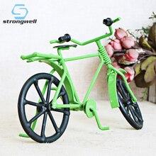 Strongwell Retro Nostalgia Multicolor modelo de bicicleta escultura de Metal Vintage decoración del hogar niño regalo de cumpleaños