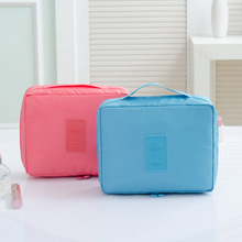 New Women Cosmetic Bag Nylon Toiletry Kit Organizer Waterproof Portable Makeup Travel Case Wash Pouch