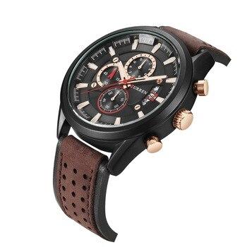 2020Trend new men's watch calendar men's watch waterproof belt watch sports men's watch